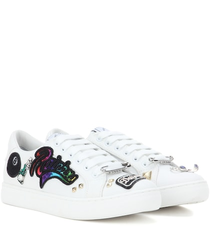 marc jacobs female empire embellished sneakers