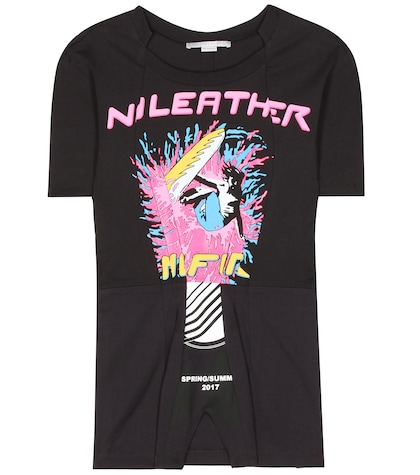 stella mccartney female laurel printed cotton tshirt