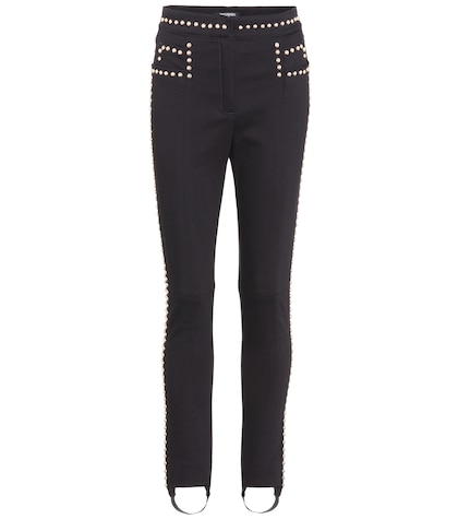 Embellished stirrup jeans