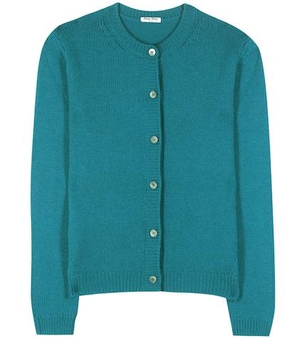 miu miu female cashmere knitted cardigan