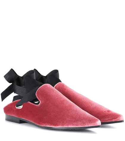 x Clergerie Lubay velvet loafers