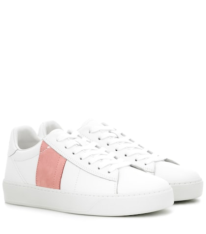Court leather low-top sneakers