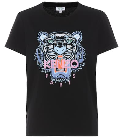 Bedrucktes Bedrucktes Schwarz Schwarz Kenzo Aus Kenzo shirt Baumwolle Kenzo T shirt T Baumwolle Aus Bedrucktes T nq8ZWwYv