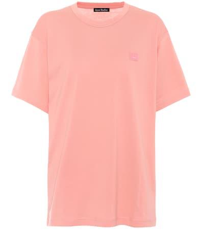 Acne Studios T-shirt Nash Face Aus Baumwolle Pale Rosa
