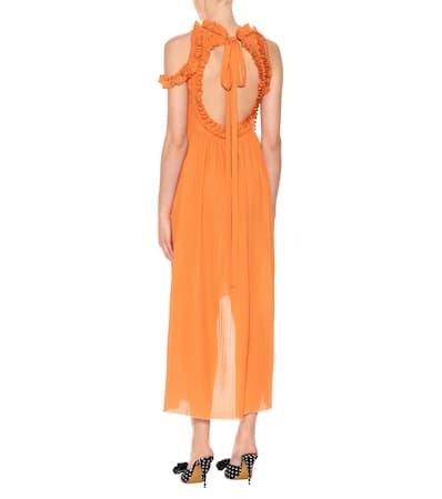 Magda Assisi Seide Orange Magda Baumwolle Und Butrym Aus Kleid Butrym qI4SIw
