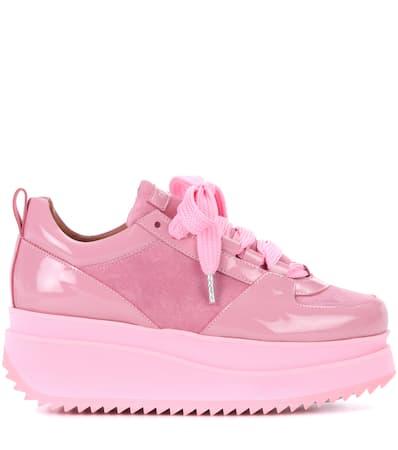 Sea Ganni Plateau Leder sneakers Aus Edel Rosa Ganni Plateau 1RUwqd00