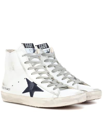 Francy Goldene Marke Wei top Leder sneakers Gans Deluxe Aus High xqSRUFC