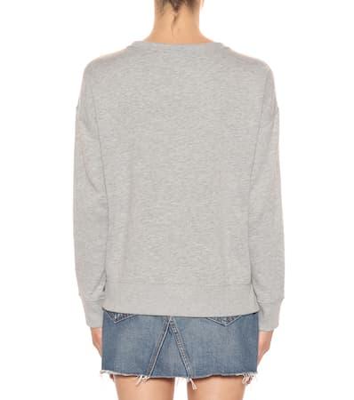 Ralph Jersey Polo Besticktes Lauren Polo Sweatshirt Aus Ralph Grey EvFqaxw