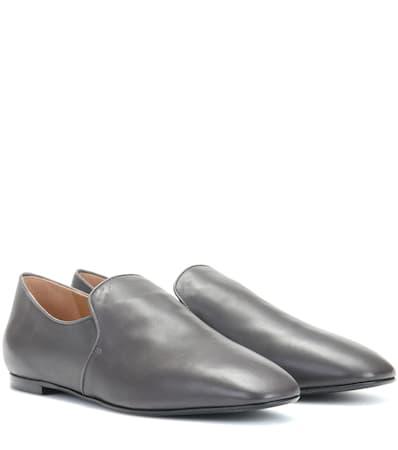 Die Reihe Loafers Aus Leder Kohle