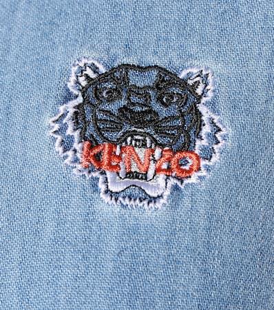 2018 Billig Verkaufen Kenzo Denimbluse Aus Baumwolle Marine Blau 100% Ig Garantiert Günstiger Preis Zuverlässig Günstiger Preis Er7w5d
