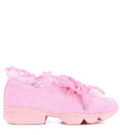 Sea Ganni Samt Rosa Ganni Sneakers Sneakers Aus nwBZvqC