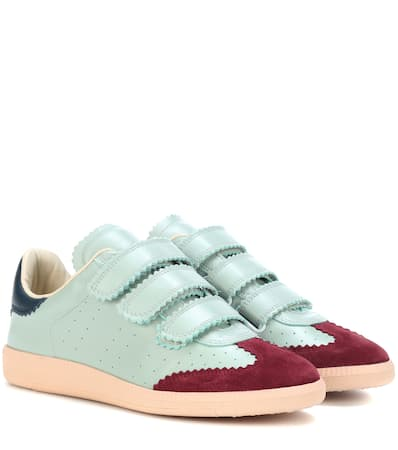 Isabel Marant Sneakers Beth Aus Leder Almond Liefern xUGsN8ncx