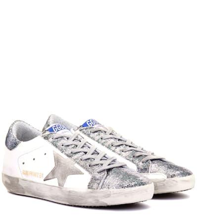 Leder Brand 锟� Mytheresa Glitter com Sneakers Glitter Goose Exklusiv Bei Deluxe Aus Superstar Tiger Golden Mit 0XEx1wqPX