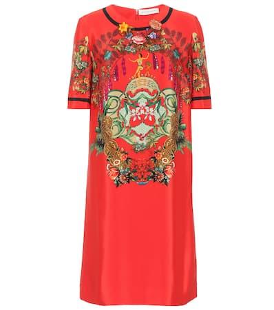 Seidengemisch Rot Kleid Etro Etro Aus Kleid Einem FnYXvHwP