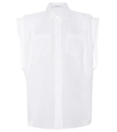 Baumwollpopeline Givenchy Bluse Bluse Aus Aus Bluse Givenchy Wei Wei Baumwollpopeline Givenchy Aus xxapA4