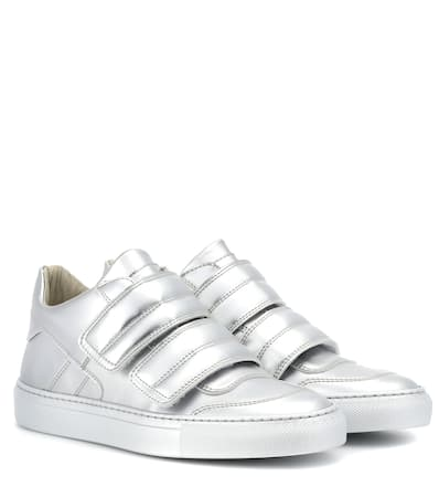 leder Mm6 Sneakers Maison Aus Metallic leder Margiela Maison Mm6 Silber Sneakers Aus Margiela Metallic Sf1adY