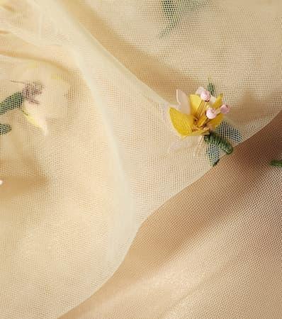 Bliss Ganni Blume Verzierte Ganni Top Verzierte Abgeschnitten Abgeschnitten Anis EqTYxHUEw