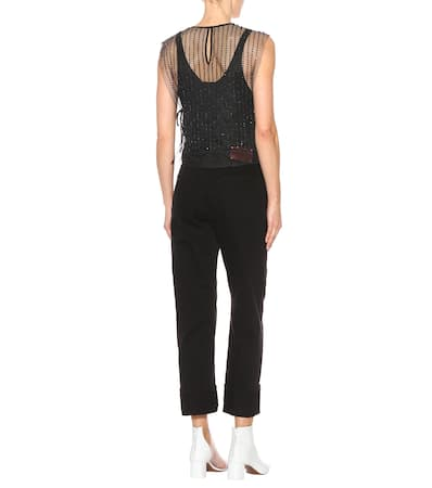 Top Verziertes Dries Noten Aus Top Noten Dries Verziertes Van Schwarz Mesh Aus Van dqwd6