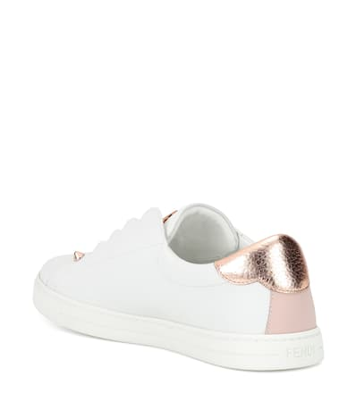 Online-Shopping-Original Am Billigsten Fendi Sneakers Aus Leder Bianco/soap Kauf OFPUGB8jX