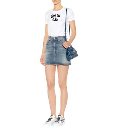 Dolce Dolce Leder Verzierte amp; Gabbana amp; Wei Aus Sneakers OqT5dqHw