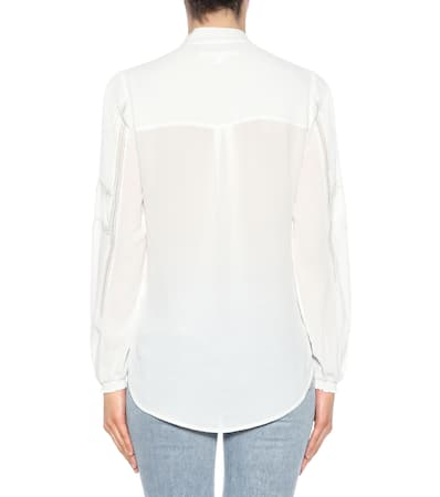 Wei Veronica Bart Cr锚pe Wei Bluse Veronica Aus Cr锚pe Bluse Bart Aus Veronica Thayer Thayer Bart q0n4Swt