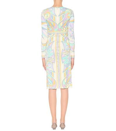Emilio Pucci Bedrucktes Emilio Bedrucktes Glicine Aus Glicine Pucci Emilio Pucci Aus Bedrucktes Kleid Jersey Kleid Jersey Kleid fAnBP