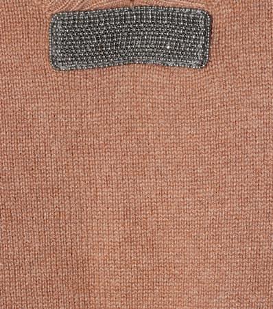 Aus Cashmere Cashmere Braun Cucinelli Brunello Verzierter Verzierter Pullover Braun Brunello Pullover Aus Cucinelli Cucinelli Brunello aSBqwRHWxW