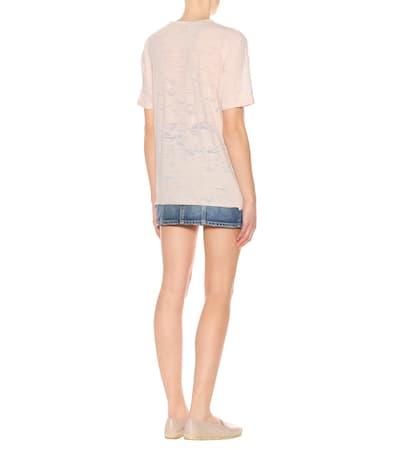 Saint Rosa Laurent Light Baumwollgemisch Aus Einem shirt Mehrfarbig T rrwO7qF