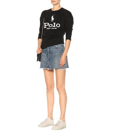 Einem Schwarz Bedrucktes Bedrucktes Ralph Polo Baumwollgemisch Lauren Ralph Sweatshirt Lauren Polo Aus Sweatshirt Aus U4PqCxwC