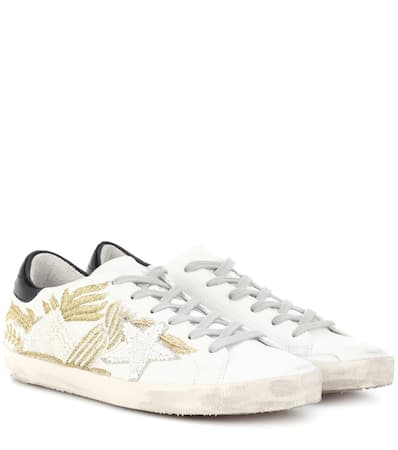 Sneakers Brand Goose Leder Verzierte Embroidery Deluxe Silber Gold Superstar Golden Aus wx6Igqff