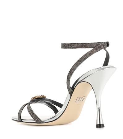 Dolce & Gabbana Verzierte Sandalen Schwarz/Silber Visa-Zahlung Günstiger Preis Rabatt Wahl bS88LQx
