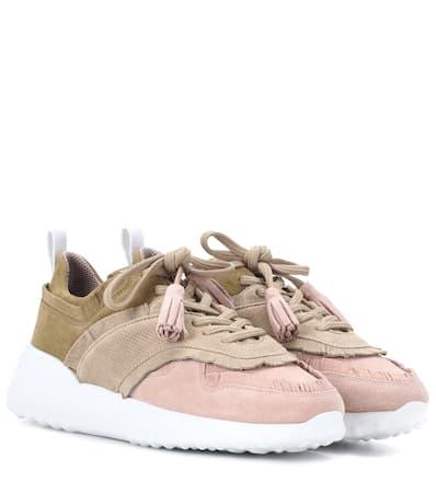 Kahki Aus rose Tod's Tod's Veloursleder Sneakers Sneakers YwX7qtx