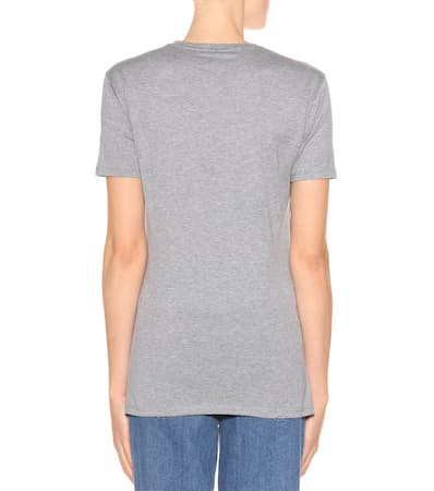 Baumwolle Aus T shirt Fendi Fendi Grey T Mit Pelz wxXBpnaqz