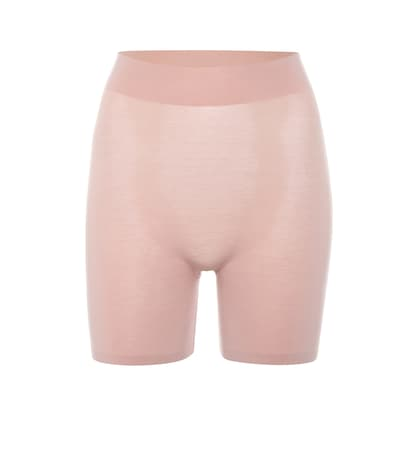 Wolford Shorts Cotton Contour Aus Stretch-baumwolle Rose Tan