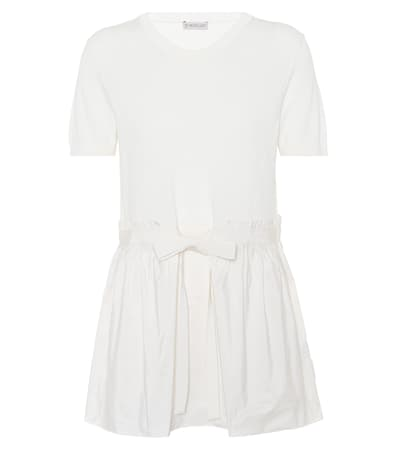 Moncler Top Ivory Moncler Baumwolle Aus Top z4qKBwO