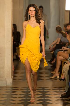 Jacquemus Drapiertes Kleid Gelb 100% Original Zum Verkauf Neue Stile Verkauf Online 9mZAQD0A0