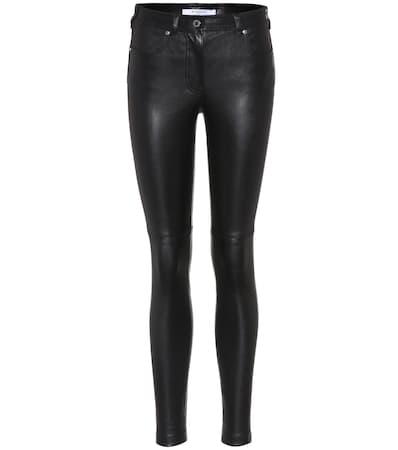 Givenchy Skinny-hose Aus Leder Noir