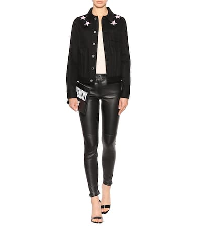 Noir Leder Skinny hose Aus Givenchy Skinny Givenchy qxEXPwyYRa