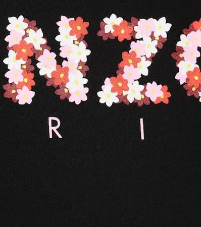 Aus shirt T Kenzo Flowers Kenzo Bedrucktes Baumwolle Jackie Schwarz Bedrucktes qI0BqO