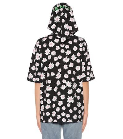 Balenciaga Bedruckter Hoodie Aus Baumwolle Noir/blanc Günstig Kaufen 2018 Neue Verkauf Für Billig Freies Verschiffen 2018 Unisex Bester Shop Zum Kauf Manchester Großer Verkauf JYWV78f