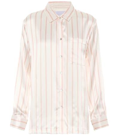 Seide Pyjama Asceno Gestreifte Aus Stripe Asceno Blush bluse Gestreifte zHP7a7