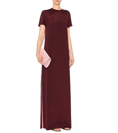 Offiziell Steckdose In Deutschland Valentino Robe Aus Seide Rosa/bordeaux Verkauf Gut Verkaufen Dq7qxN6hs7