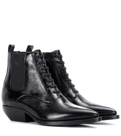 Saint Laurent Stiefel Theo 40 Aus Leder Nero Billig Verkaufen Brandneue Unisex 2018 Kühl Rabatt Niedriger Versand bY97wKQ