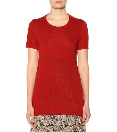 Leinen shirt T 脡toile Isabel Rot Isabel Marant Aus Kiliann Marant xwqWRv8gT
