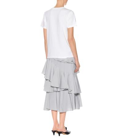 Ivory T Alexachung Aus Alexachung shirt T Verziertes Verziertes Baumwolle rIUqUwS8Zx