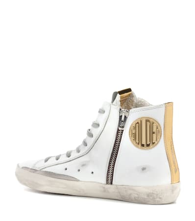 Aus Gans Wei High Deluxe Leder sneakers Francy Goldene top Marke STZSx0