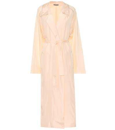 Bottega Veneta Verzierter Mantel Aus Einem Seidengemisch Light Rosa