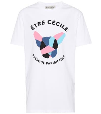 Wei C茅cile shirt T Bedrucktes Aus C茅cile Baumwolle T 脢tre shirt 脢tre Bedrucktes Aus wOBA7q