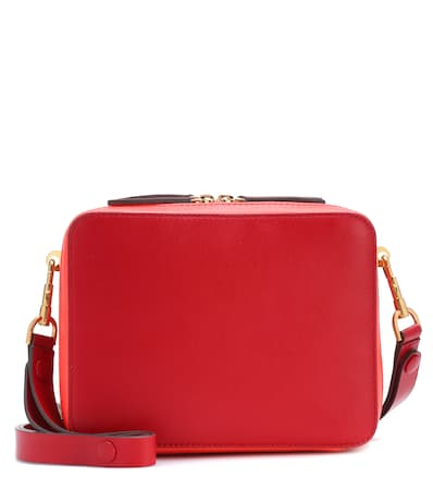 Anya Hindmarch Schultertasche The Stack Double Aus Leder Rot Circus