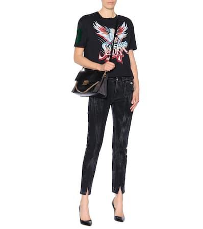 Noir shirt T Aus Bedrucktes Givenchy Baumwolle Givenchy Bedrucktes Zxp0w47w